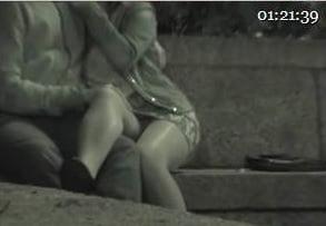 Night spy public voyeur clip 2-sex at night in public thumb2