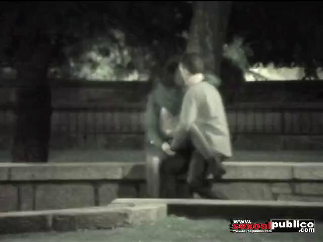 kissing and fucking voyeur in park