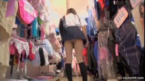 mini skirt asian girl hot legs voyeur